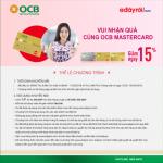 Vui nhận quà cùng OCB Mastercard và Adayroi