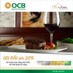 Ưu đãi tại nhà hàng Oh Vang dành cho chủ thẻ OCB