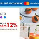 Agoda giảm thêm 12% cho chủ thẻ Sacombank Mastercard