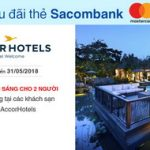Tặng bữa ăn sáng cho 2 người tại các khách sạn thuộc AccorHotels với thẻ Sacombank Mastercard