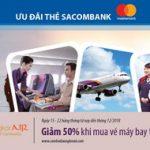 Giảm 50% khi mua vé máy bay Cambodia Angkor Air với thẻ Sacombank Mastercard