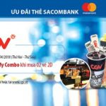 Tặng 1 My Combo khi đặt vé CGV với thẻ Sacombank Mastercard