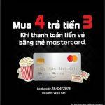 Mua 4 trả tiền 3 khi thanh toán bằng thẻ Eximbank MasterCard tại Lotte Cinema