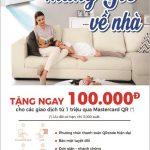 Quét QR Code để nhận ưu đãi cùng thẻ Eximbank MasterCard tại siêu thị Nguyễn Kim