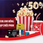 Hoàn tiền 50%, tới 500.000 đồng cho chủ thẻ Quốc tế Maritime Bank Mastercard khi chi tiêu tại hệ thống các rạp chiếu phim