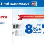 Ưu đãi tại hệ thống Bic Camera, Nhật Bản với thẻ Sacombank JCB