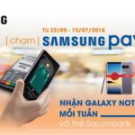 Chạm Samsung Pay - Nhận Galaxy Note 8 mỗi tuần với thẻ Sacombank