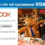 Miễn phí 3G/4G và Giảm 10% khi đặt dịch vụ Klook với thẻ Sacombank Visa