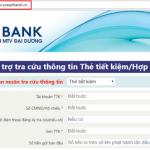 Tiện ích quản lý thông tin tiền gửi tiết kiệm qua website của OceanBank