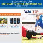 Tranh hội túc cầu - Rinh Smart TV với thẻ Sacombank Visa