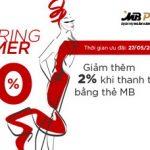 Ưu đãi lên tới 52% cho các khách hàng MB tại chương trình Spring Summer Sale
