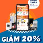 Ưu đãi 20% tại Shopee dành cho thẻ Eximbank