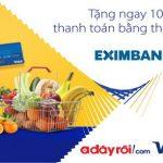 Ưu đãi dành cho chủ thẻ Eximbank Visa tại Adayroi.com