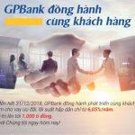 GPBank cho vay 1.000 tỷ đồng với lãi suất chỉ từ 6,05%/năm