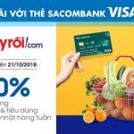 Adayroi giảm 10% với thẻ Sacombank Visa