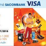 Shopee giảm thêm 10% với thẻ Sacombank Visa