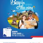 Bay đón thu vàng cùng BIDV SmartBanking - Hoàn ngay 200.000 đ khi đặt vé máy bay trên ứng dụng