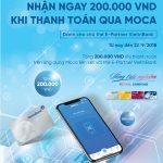 Nhận ngay 200.000 đồng khi thanh toán qua Moca với thẻ E-Partner VietinBank