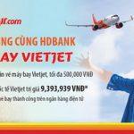 Bay cùng Vietjet với ưu đãi thanh toán eBanking HDBank