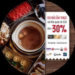 Đại tiệc ẩm thực - Ưu đãi đến 30% với thẻ quốc tế SCB