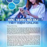 Xác nhận số dư tiết kiệm online cùng VietABank