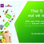 Chương trình ưu đãi cho chủ thẻ Vietcombank tại siêu thị Fivimart
