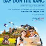 Hoàn ngay 200.000 đồng khi mua vé máy bay trên VietinBank iPay Mobile