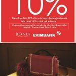 Bonia ưu đãi 10% dành cho chủ thẻ Eximbank