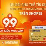 Ưu đãi cho thẻ tín dụng LienVietPostBank MasterCard trên Shopee