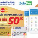 Hoàn tiền khi liên kết thẻ LienVietPostBank MasterCard trên Zalopay