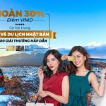 Hoàn 30% và cơ hội trúng cặp vé du lịch Nhật Bản cùng thẻ tín dụng MB JCB Sakura
