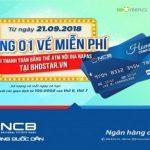 Thanh toán bằng thẻ Napas của NCB được tặng vé xem phim miễn phí