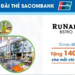Runam Bistro và Café Terrace ưu đãi cho thẻ Sacombank UnionPay
