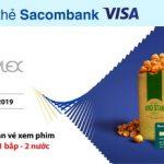 Chạm thẻ Sacombank Visa mua vé BHD - Nhận ngay Combo 1 bắp 2 nước