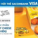 Thưởng thức món mới cùng KFC với thẻ Sacombank Visa