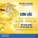 VietABank triển khai khuyến mãi Cơn lốc lộc vàng