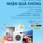 Mua đồ hiệu - Nhận quà khủng tại Điện máy Chợ Lớn cùng thẻ tín dụng quốc tế VietinBank