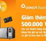 Ưu đãi lớn cùng thẻ DongA Bank tại siêu thị điện máy Nguyễn Kim
