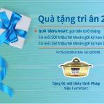 Quà tặng hấp dẫn khi gửi tiền 6 tháng, 9 tháng và 12 tháng với chương trình Quà tặng tri ân 2018 của Eximbank