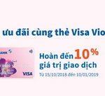 20/10 nhận ưu đãi cùng thẻ Eximbank Visa Violet
