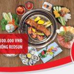 Hoàn tiền 30%, tới 500.000 đồng dành cho chủ thẻ Quốc tế Maritime Bank Mastercard khi chi tiêu tại chuỗi nhà hàng thuộc hệ thống Redsun
