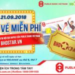 Tặng vé xem phim miễn phí khi mua vé trên website BHD STAR thanh toán bằng thẻ ATM nội địa của Public Bank Vietnam