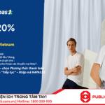 Robins giảm ngay 20% cho chủ thẻ Public Bank Vietnam