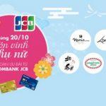 Mừng 20/10 - Tôn vinh phụ nữ với ngàn ưu đãi từ Sacombank JCB