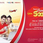 Nhận ưu đãi khi thanh toán vé máy bay Vietjet bằng QR Pay trên ứng dụng Agribank E-Mobile Banking
