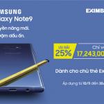 Ưu đãi cùng thẻ Eximbank khi mua Samsung Galaxy Note 9Ưu đãi cùng thẻ Eximbank khi mua ĐTDĐ Samsung Galaxy Note 9