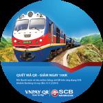 Nhập mã QR - Giảm ngay 100.000 VND khi mua vé tàu online cùng SCB