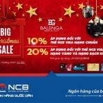 Tưng bừng sắm đồ Giáng Sinh tại Balenga với thẻ NCB Visa