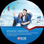 Đặt vé máy bay - iPhone XS về tay cùng SCB