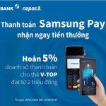 Thanh toán Samsung Pay, nhận ngay tiền thưởng cùng Eximbank